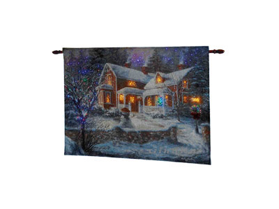 LED Brocade Wall Hanging 221109